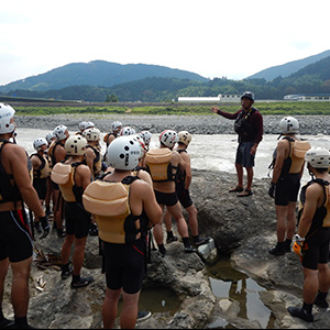 河川でのレスキューワークショップ